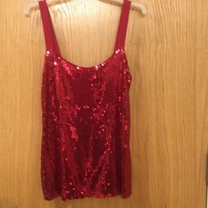 Red Sequin tank